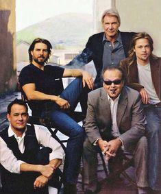 PsBattle: Brad Pitt Harrison Ford Jack Nicholson Tom Cruise and Tom Hanks in a studio lot Harrison Ford, Jack Nicholson, Tom Hanks, Tom Cruise, Vanity Fair, Z Cam, Annie Leibovitz, George Clooney, Jolie Photo