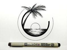 Amazing Pen and Ink Cross Hatching Masters Edition Ideas. Incredible Pen and Ink Cross Hatching Masters Edition Ideas. Tumblr Drawings, Doodle Drawings, Easy Drawings, Doodle Art, Drawing Sketches, Circle Drawing, Drawing Base, Daily Drawing, Beach Drawing