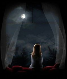 Forever looking at the moon and stars through my bedroom window and feeling purpose, hope and strength