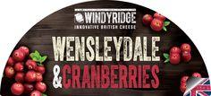 Wensleydale & Cranberries Cheese Half Moon Label by WIndyridge Cheese Ltd