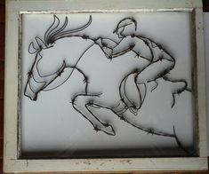 Horse art, jumping horse, horse sculpture, wire horse, eventing horse,  via Etsy