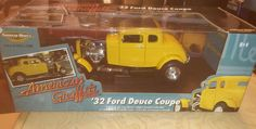 Ertl American Muscle 1932 '32 Ford Deuce Coupe American Graffiti 1:18 Scale 3588 #ERTL #Ford