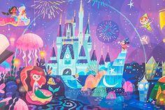 Mural for Disney Tokyo Celebration Hotel by Joey Chou - Closeup # 2 Disney Magic, Disney Pixar, Walt Disney, Disney Fan Art, Disney Amor, Disney E Dreamworks, Disney Artwork, Disney Dream, Disney Girls