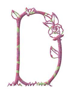 Alfabeto ..primavera en rosa...D