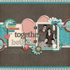 Use CTMH Cricut Collections for all the wonderful shapes in this layout!