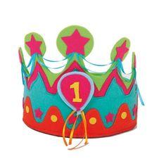 Verjaardagskroon vilt 1-5 jaar - model 1