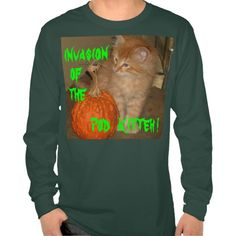 HALLOWEEN INVASION OF THE POD KITTEH! SHIRTS TEES
