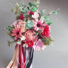 #paperflowers #paperflowerbouquet #paperart #summerflowers #wildflowers #crepepaperflowers #handpainted