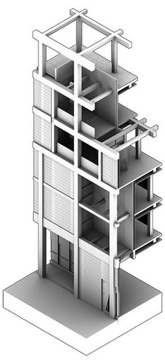 Ambient Occlusion Axonometric Section