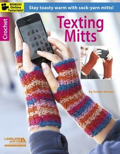 crochet book for patterns of fingerless gloves