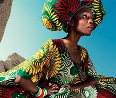 Sonja Wanda for Vlisco Dutch Wax Co. African Inspired Fashion, African Print Fashion, Africa Fashion, Ethnic Fashion, African Prints, African Beauty, African Women, African Art, African Style