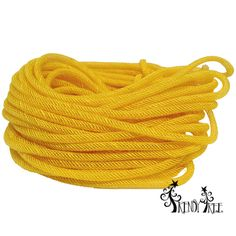 Jute Flex Tubing Yellow - combination of jute and synthetic poly - available in several colors #trendytree #burlap #jutetubing
