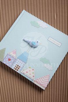 Little bird themed guest book#ευχολόγια#βάπτισης#αγόρι#βιβλία#ευχών Bird Theme, Books For Boys, Christening, Boy Or Girl, Scrapbooking, Crafts, Wedding Ideas, Home, Art