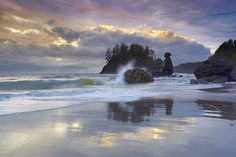 Moonstone Beach, Trinidad, CA.  Want to go here.  Uncle Jim went every year and loved it.