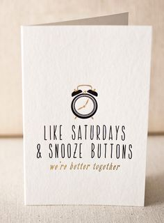 Like Saturdays letterpress card (with gold foil) from Smock Paper