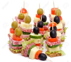 Arrangement of Canapes ! Ideas Para Canapés, Culinary Arts Schools, Tapas, Tomato And Cheese, Whole Grain Bread, Food Decoration, Appetisers, Food Presentation, Antipasto