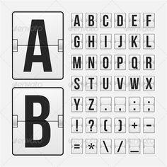 vintage scoreboard letter template - Google Search