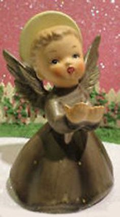 Vtg Angel Figurine Hands Outstretched Ceramic Napcoware New Old Stock