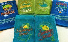 Sommersonne Urlaub Paradies lovin Angebote Stickerei von artapli