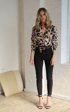 Chester Shirt Leopard von Never Fully Dressed Leopard Print Outfits, Leopard Shirt, Animal Print Outfits, Animal Print Fashion, Leopard Print Shirts, Leopard Top, Blusas Animal Print, Animal Print Shirts, Animal Print Blouse