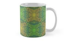 """""""""""Oak King"""", bohemian pattern in yellow and green tones"""" Mugs by clipsocallipso 