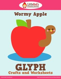 Apple Glyph Craft and Worksheets $