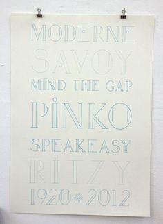 John Chapman's Pinko typeface