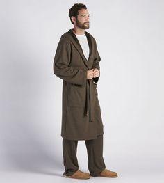 c95daa8855 UGG Cotton Jersey Brunswick Robe - Men s NWT Med Large Stout Heather Brown   145  UGG  SleepwearRobes