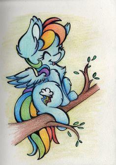 Rainbow on a Tree by CutePencilCase.deviantart.com on @DeviantArt