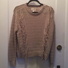 Pac Sun Fringe Sweater Tan sweater, never been worn! Brand is La Hearts from Pac Sun PacSun Sweaters