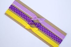Set of 3 Purple with Gold Polka Dots Purple by simplycarlyd, $5.00 UW Huskies