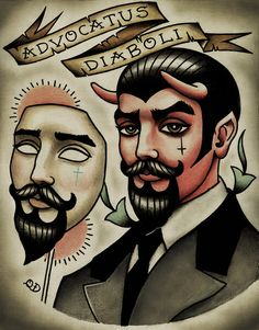 Devil in Disguise Tattoo Print. $20.00, via Etsy.