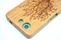 SONY Xperia Z3 Compact  Wood Case  Cherry Wood by HelloNature