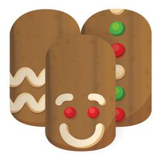 Run, Run, Run-How adorable are these gingerbread men nail wraps?? These will make for some great Christmas nails!