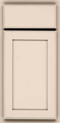 KraftMaid Cabinets -Square Recessed Panel - Veneer (AC4M) Maple in Mushroom from waybuild