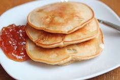 Apple Cider Pancakes ~ a delicious alternative to boring pancakes! | 5DollarDinners.com