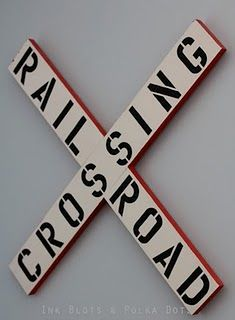 diy railroad crossing sign, kids train room ideas, train room ideas for boys, train bedrooms, train bed