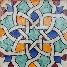 tile for bathroom accent Moroccan Design, Moroccan Decor, Islamic Patterns, Tile Patterns, Granada, Moroccon Tiles, Art Arabe, Motif Arabesque, Exterior Wall Design