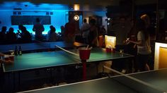 Ping, Earls Court. Ping pong tables, pizza, cocktails, beer pong, cosy sofas. Great place to hang out or take a date.