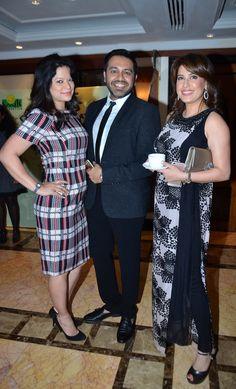 Aarzoo Govitrikar, Nitish Shah and Amrita Raichand at the I Am Woman event