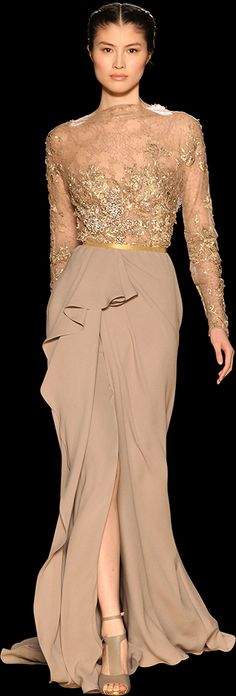 Nude never looked so good. (Elie Saab)