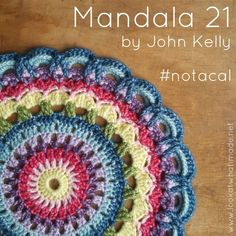 Mandala 21 was designed by my friend John Kelly 3 years ago and remains one of my most feel-good crochet makes.