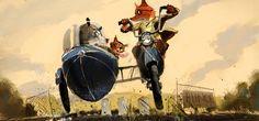The Fantastic Mr Fox concept art by Chris Appelhans
