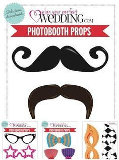 Free wedding photo booth templates