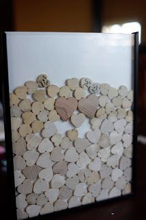 DIY Wedding Heart Drop Box- This is the cutest substitute for a guest book I found yet!