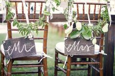 Mr. and Mrs. Wooden Signs / Set of Two / Chair Signs or Photo Props - (WD-9) on Etsy, $29.99
