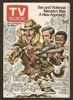 dennis weaver caricatures | guide cover McCloud by Artist Jack Davis Caricature of Dennis Weaver