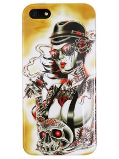 """Tears"" iPhone 5 Case by Lowbrow Art Company #inkedshop #tears #iphone #iphonecase #tattoo #inked #artist #skull"