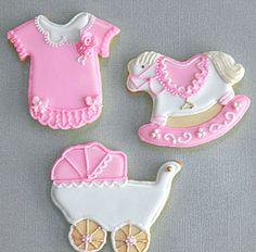 Vintage & Classic Baby Girl Cookies.  via Etsy.