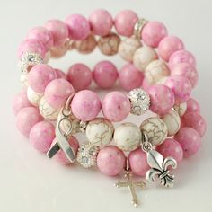 Think Pink Breast Cancer Awareness Jewelry by AnnieRehDesigns, $86.00